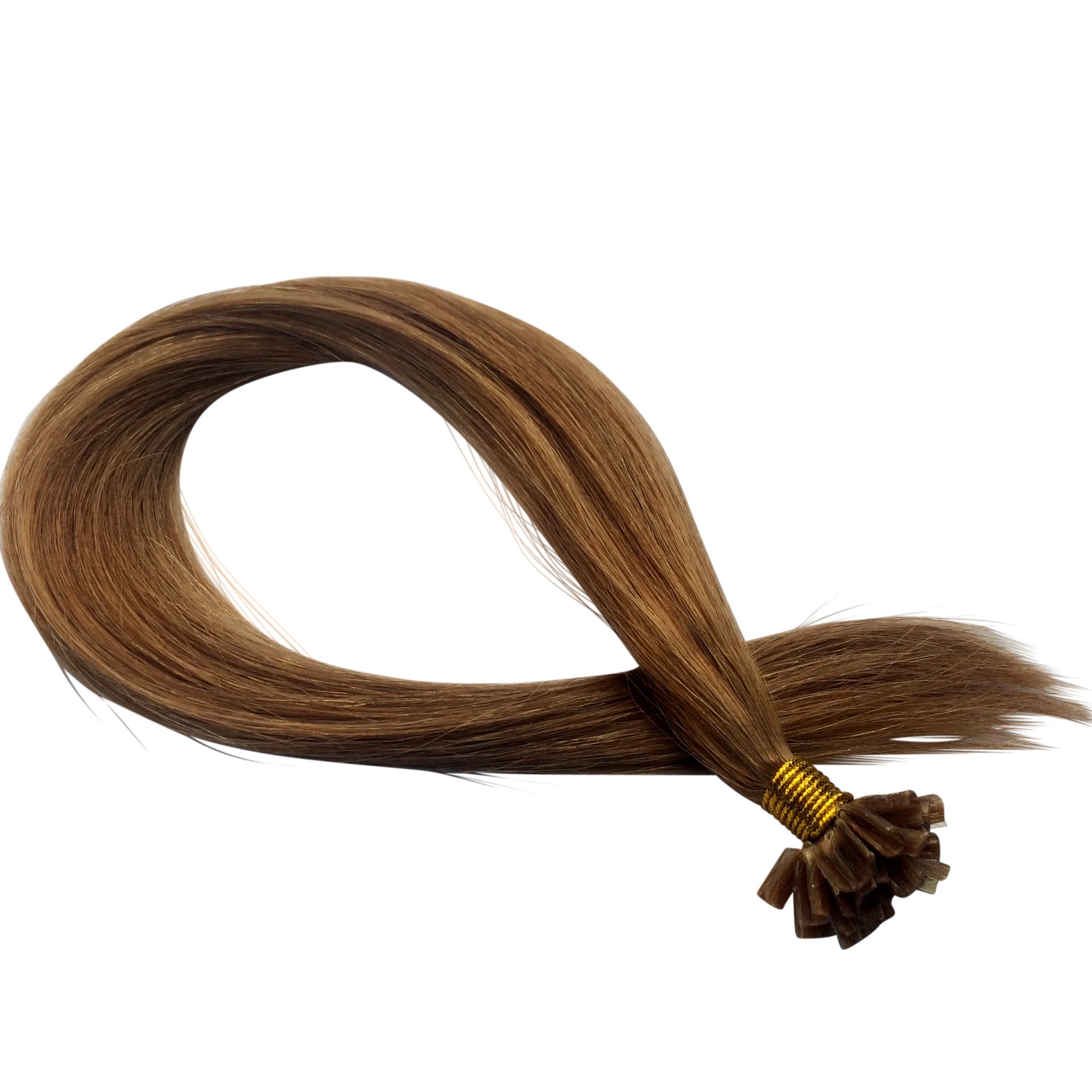 10 Light Golden Brown 1g 20 Remy Nail Hair Extensions